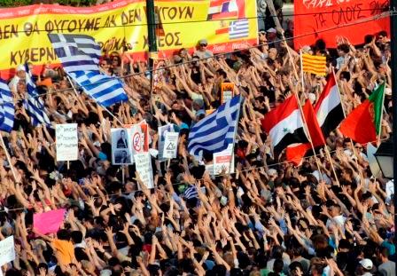 Los griegos ganan la calle otra vez, contra el FMI y el BCE