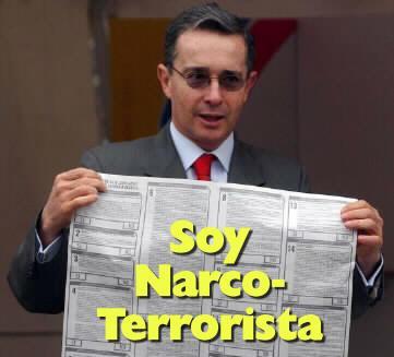 Uribe en la Argentina: narcotráfico y paramilitarismo
