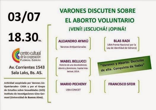 INVITACIÓN – Mesa Redonda «Varones y aborto. Decisión de ella. Conquista de todxs»
