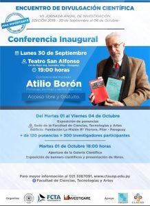 Lunes 30 de septiembre, charla inaugural del Encuentro de divulgación científica en Paraguay