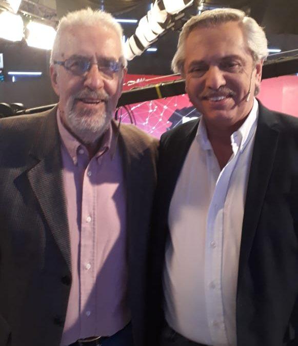 Hoy en C5N coincidí con Alberto Fernández y lo encontré muy bien y consciente de la inmensa tarea que tiene por delante.