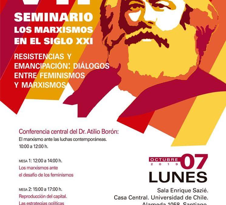 Lunes 7 de octubre en Chile: Seminario Los Marxismos en el siglo XXI