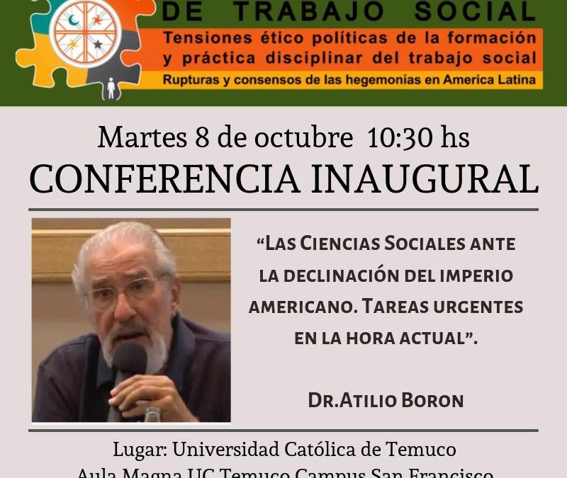Martes 8 de octubre. Conferencia en la Universidad Católica de Temuco