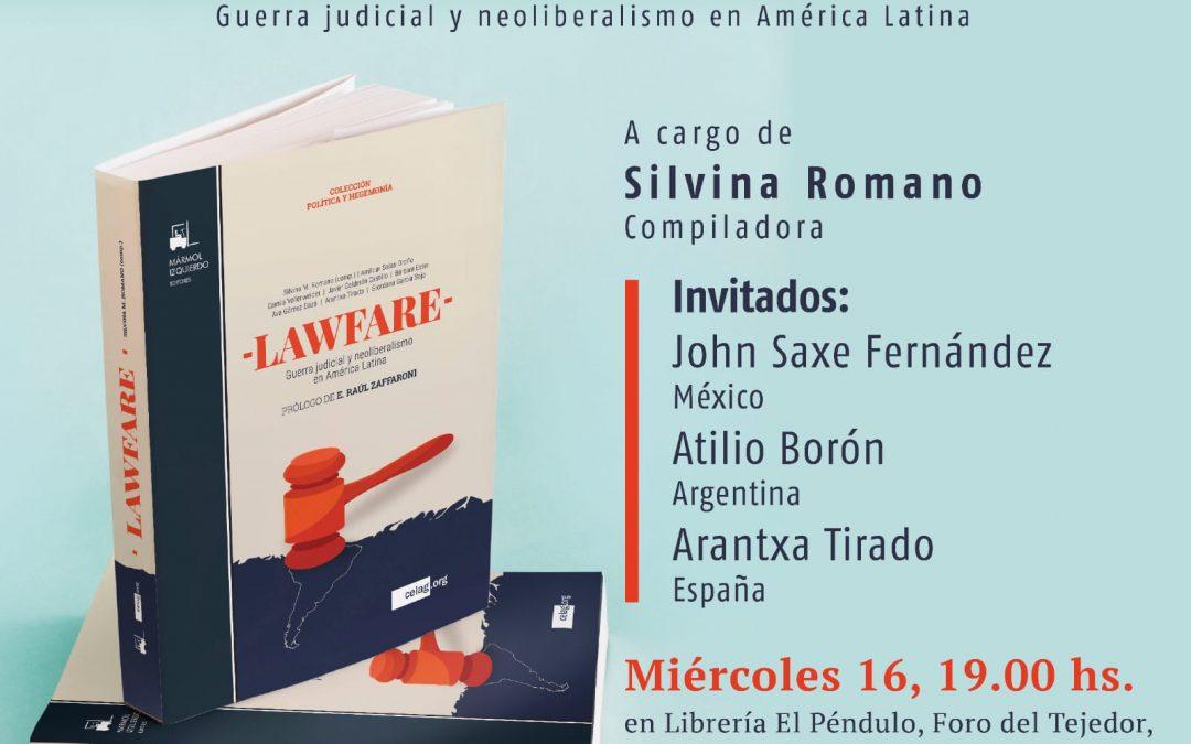 Miércoles 16 de octubre, presentación del libro Lawfare en librería El Péndulo, Ciudad de México