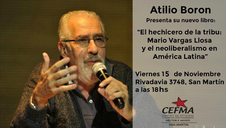 Viernes 15 de noviembre presentación del libro El Hechicero de la Tribu en San Martín