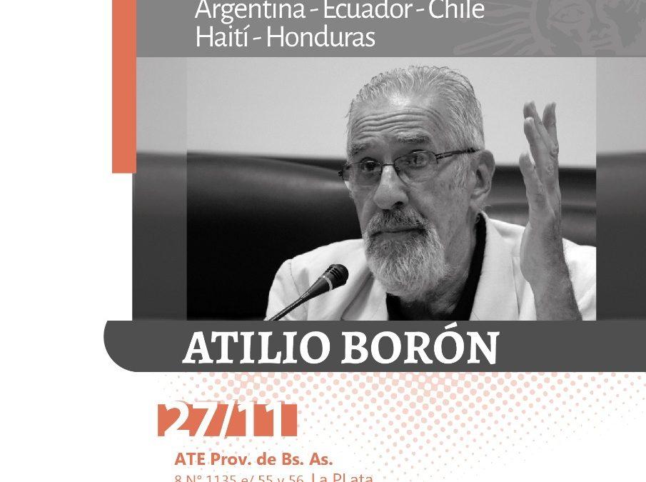 Miércoles 27 de noviembre en La Plata