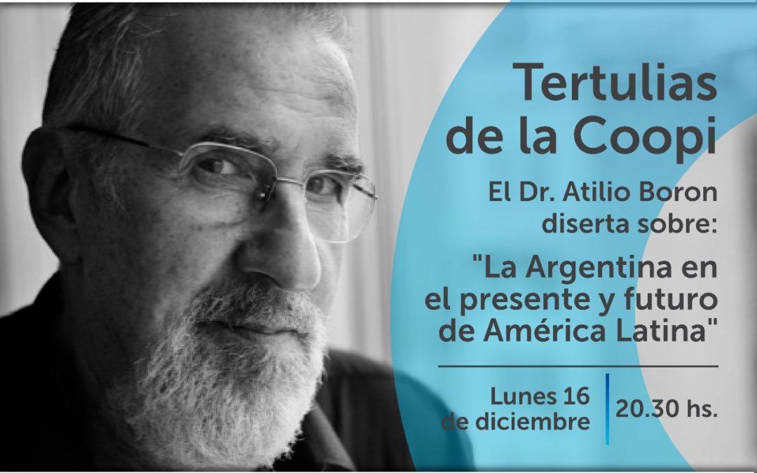 Lunes 16 de diciembre en Córdoba disertación «Argentina en el presente y futuro de América Latina»