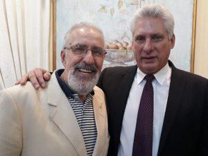 Con el presidente Miguel Diaz Canel en el marco del Seminario Internacional Universidad 2020