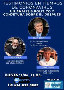 Jueves 11 de junio 19 hs (Argentina)