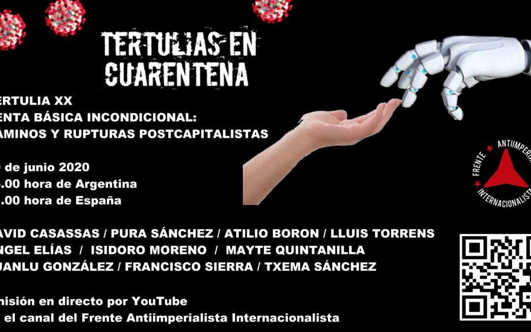 Sábado 20 de junio 16hs (Argentina) 21hs (España)