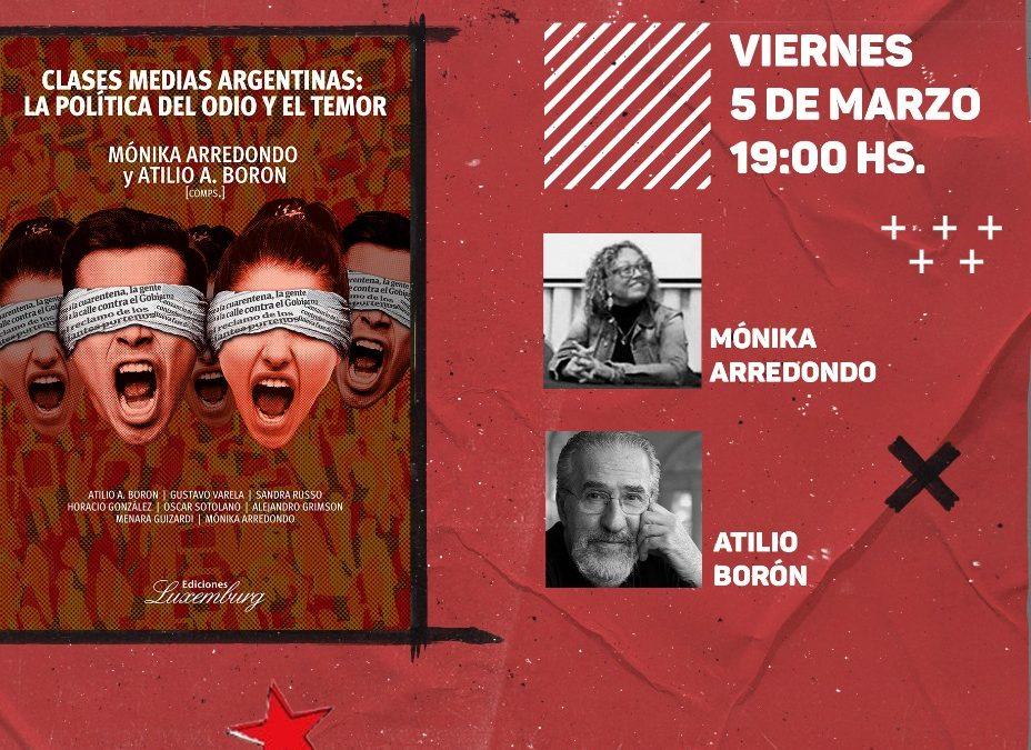 Viernes 5 de marzo a las 19hs (Argentina)