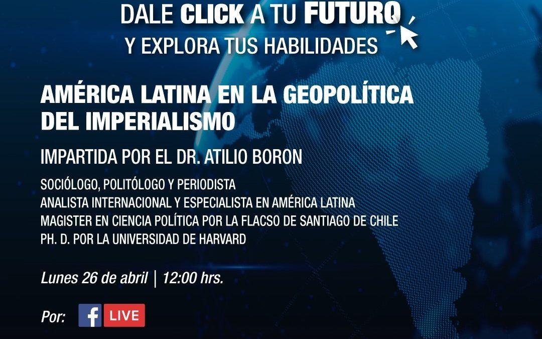 Lunes 26 de abril a las 12hs (México)