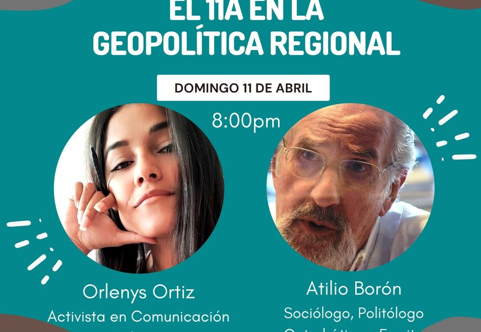 Domingo 11 de abril 21hs (Argentina) por Instagram