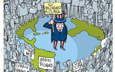 Nueva votación en la ONU: la comunidad internacional repudia por enésima vez el Bloqueo Genocida de EEUU a Cuba: 184 votos exigiendo el fin del bloqueo; 2 a favor (Estados Unidos e Israel); y 3 abstenciones de los gobiernos «lamebotas» del imperio: Colombia, Ucrania y Brasil.