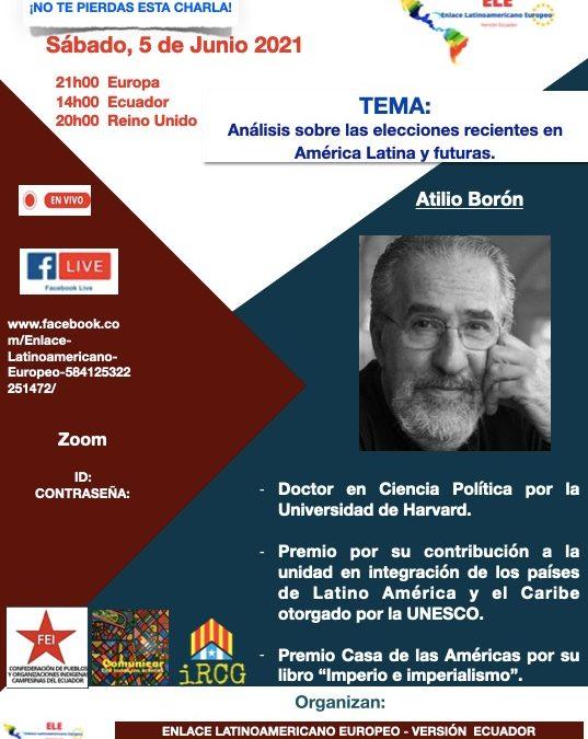 Sábado 5 de junio a las 16hs (Argentina)