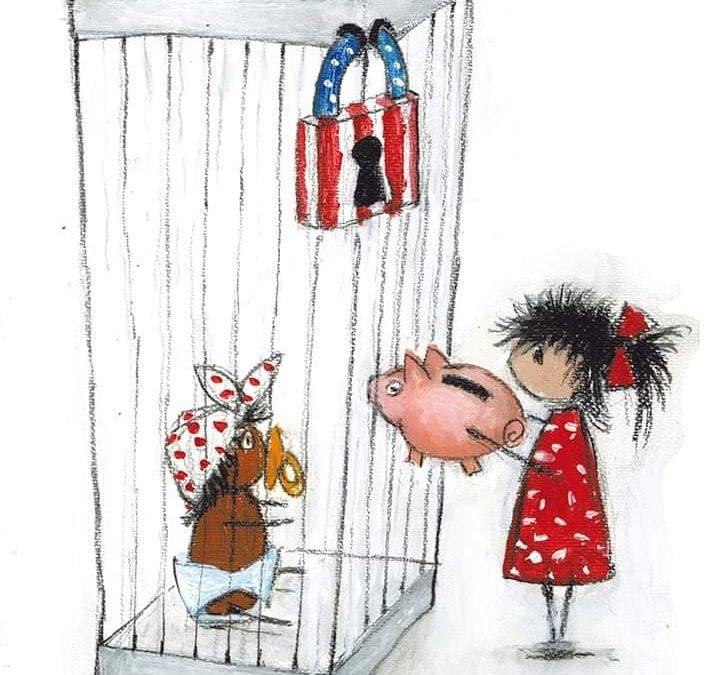 """ilustración: """"Monstriña, de María Verónica Ramírez, publicada en Clarín el 18/07/21"""