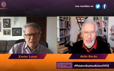 Atilio Boron conversa con Xavier Lasso