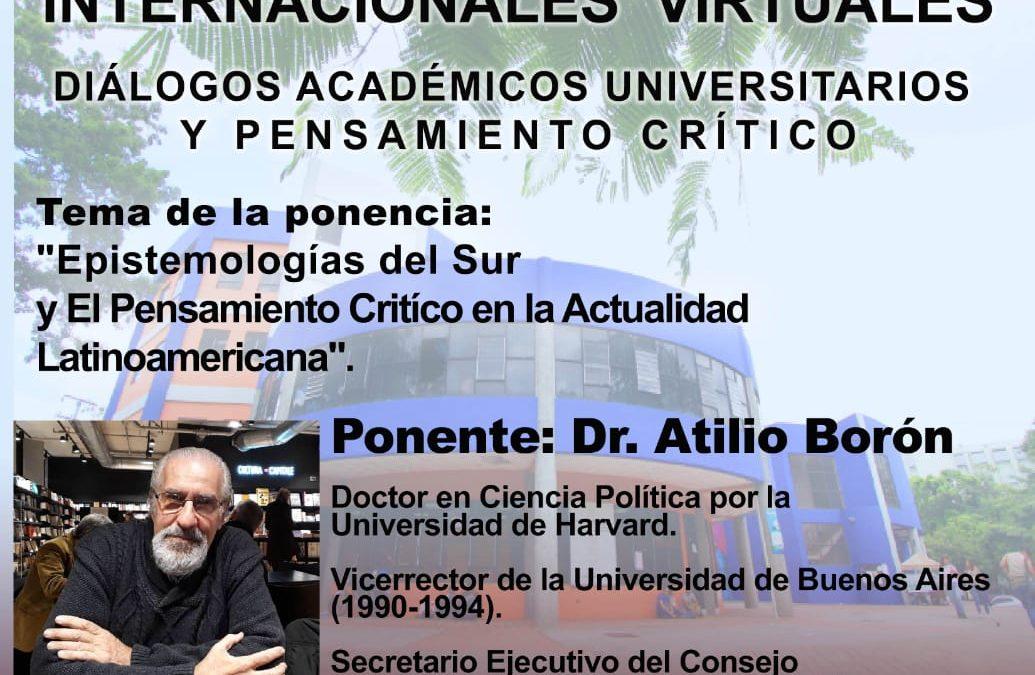 Jueves 28 de octubre a las 18hs (Argentina)